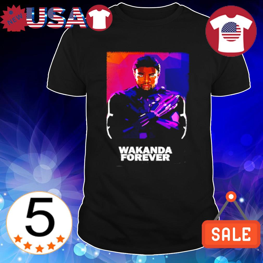 Black Panther Chadwick Boseman wakanda forever shirt