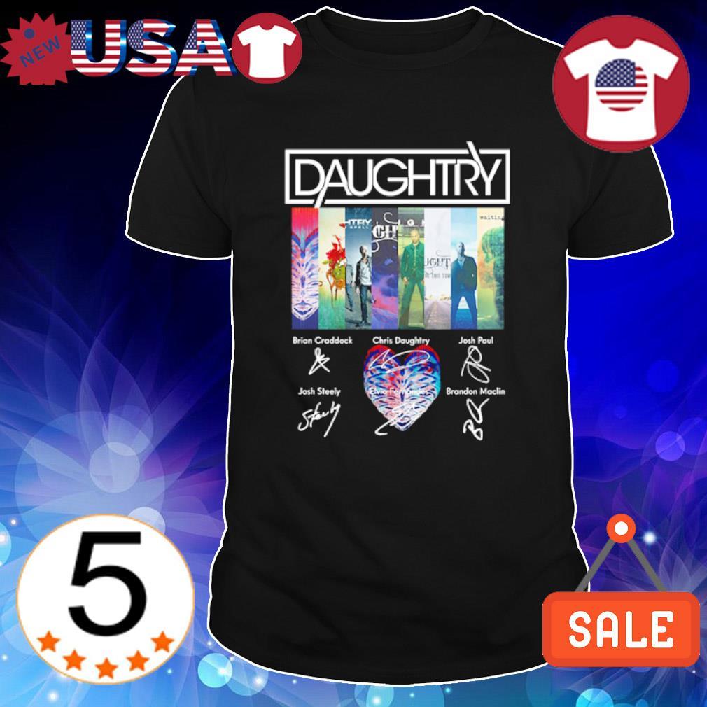 Daughtry members signature shirt