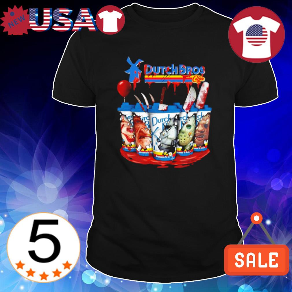 Dutch Bros Halloween horror characters shirt