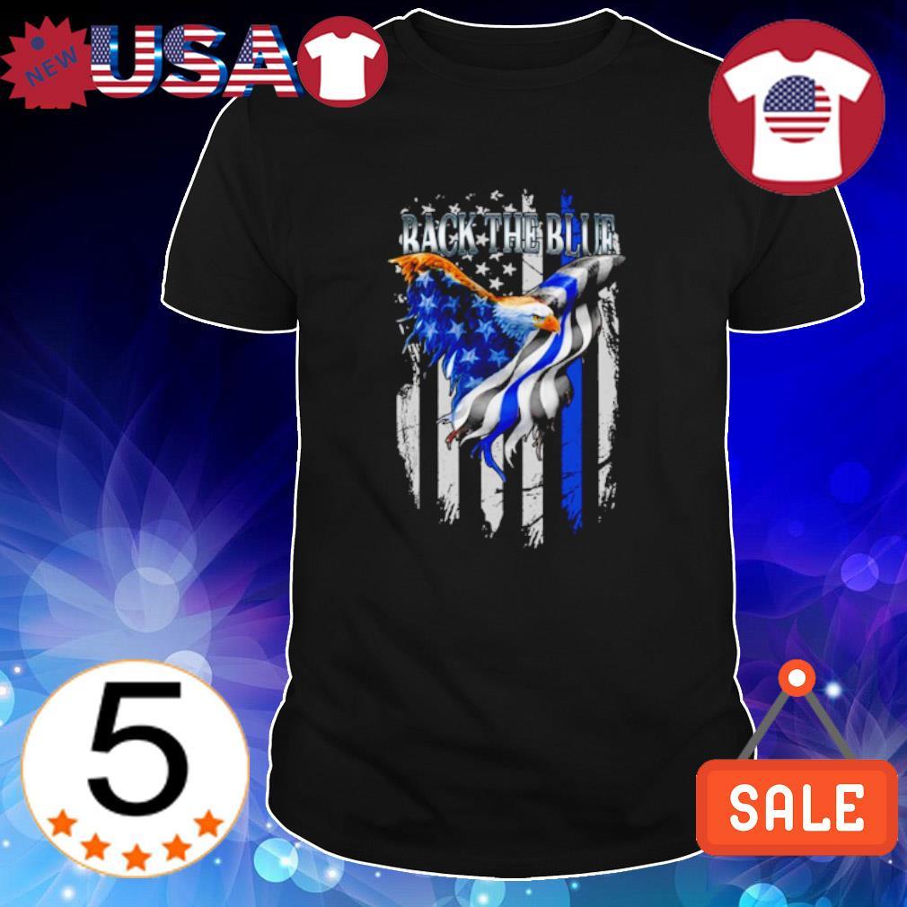 Eagle Thin Blue Line back the blue shirt