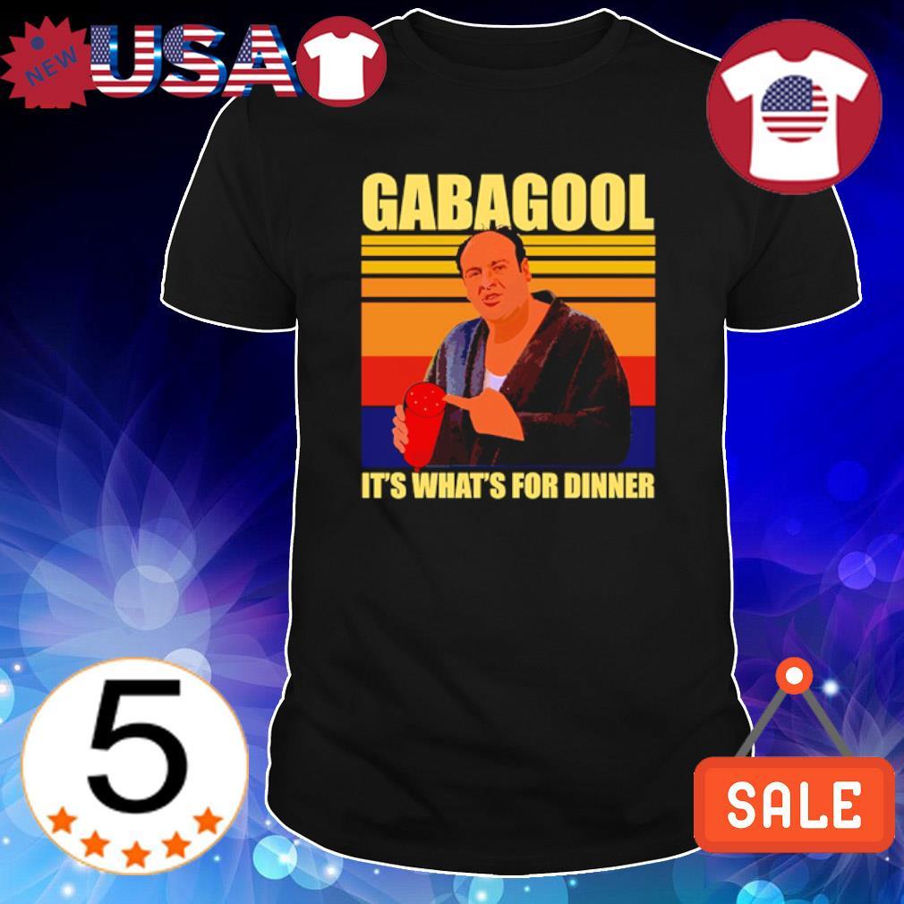 Gabagool it's what for dinner vintage shirt