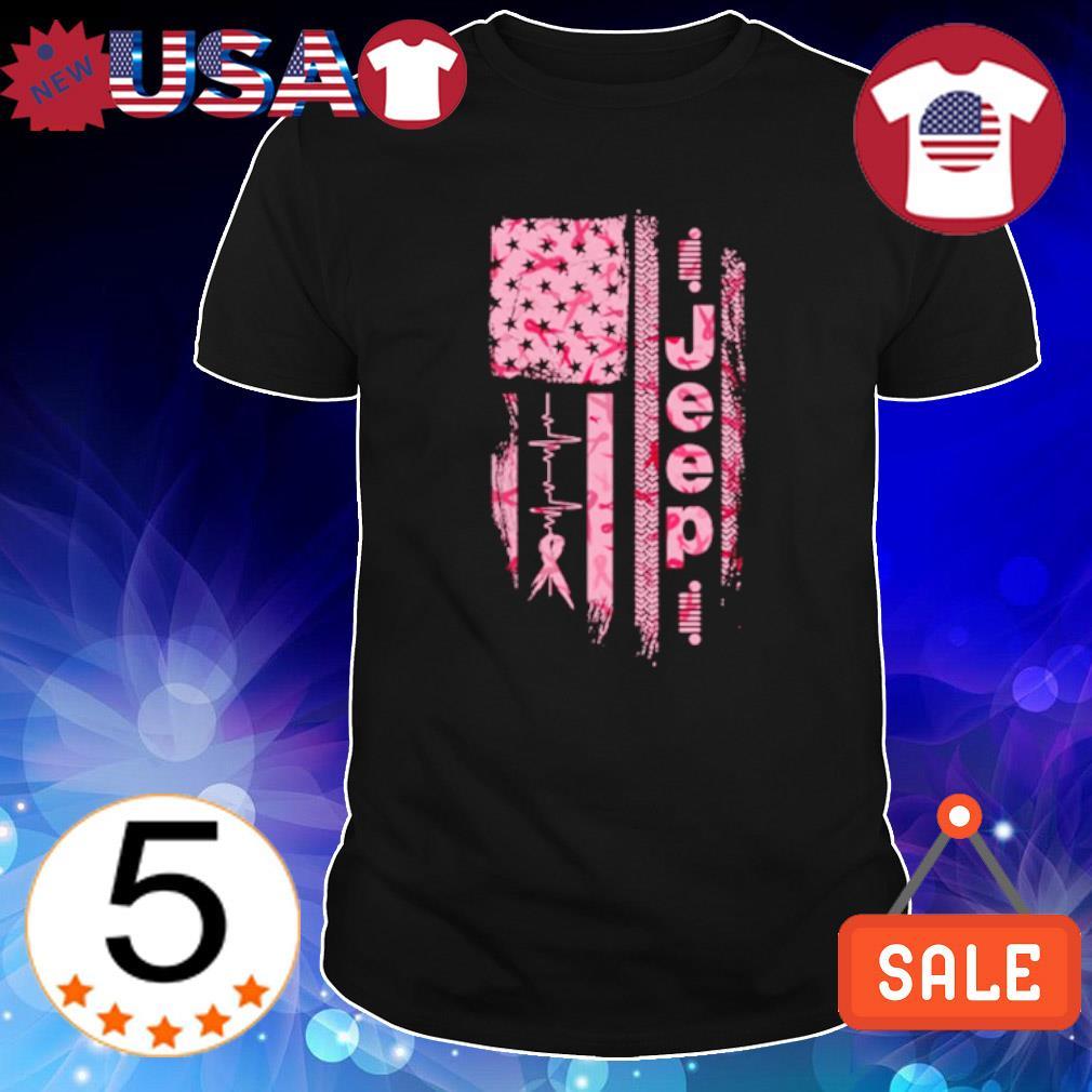 Heartbeat Jeep American flag shirt
