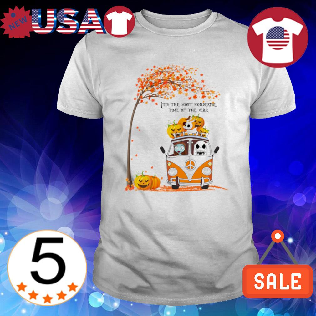 Jack and Sally Autumn it's the most wonderful time of the year shirt