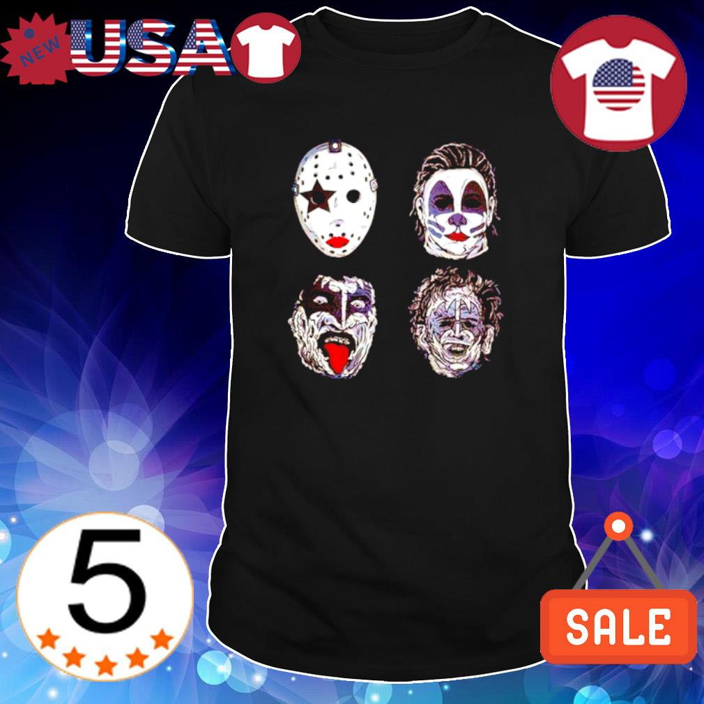Kiss of terror Horror movies characters shirt
