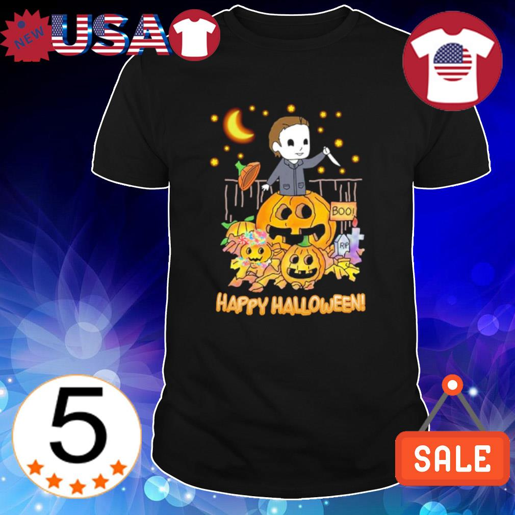 Michael Myers chibi boo rip Happy Halloween shirt