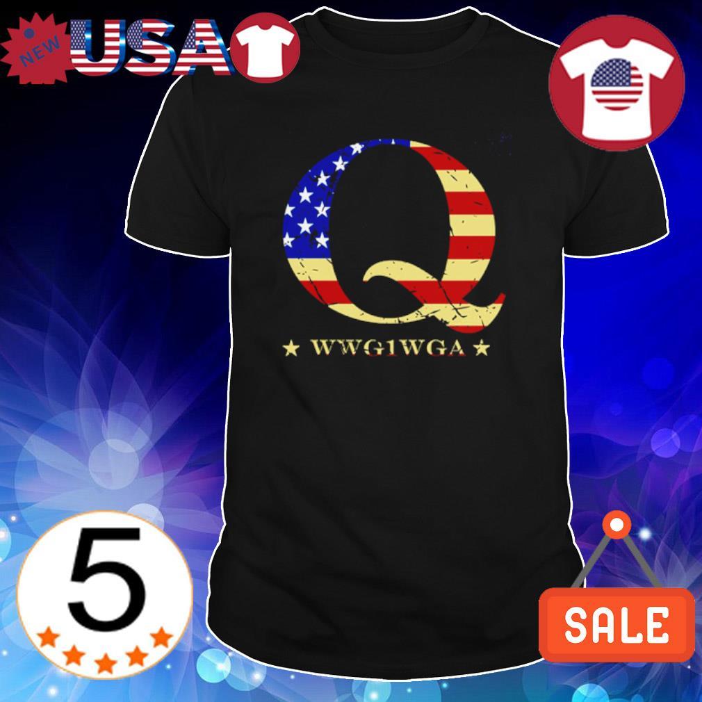 Q wwg1wga American flag shirt