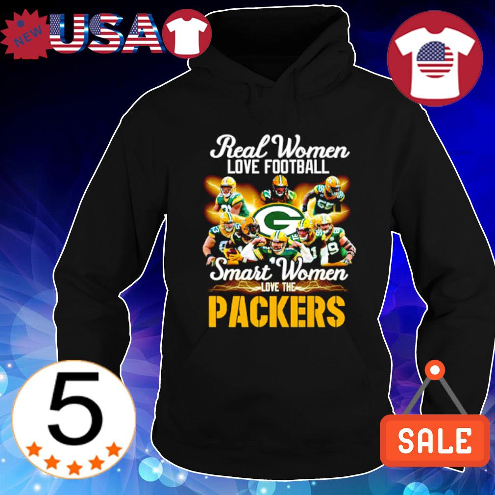 Real women love football smart women love the Packers s Hoodie Black