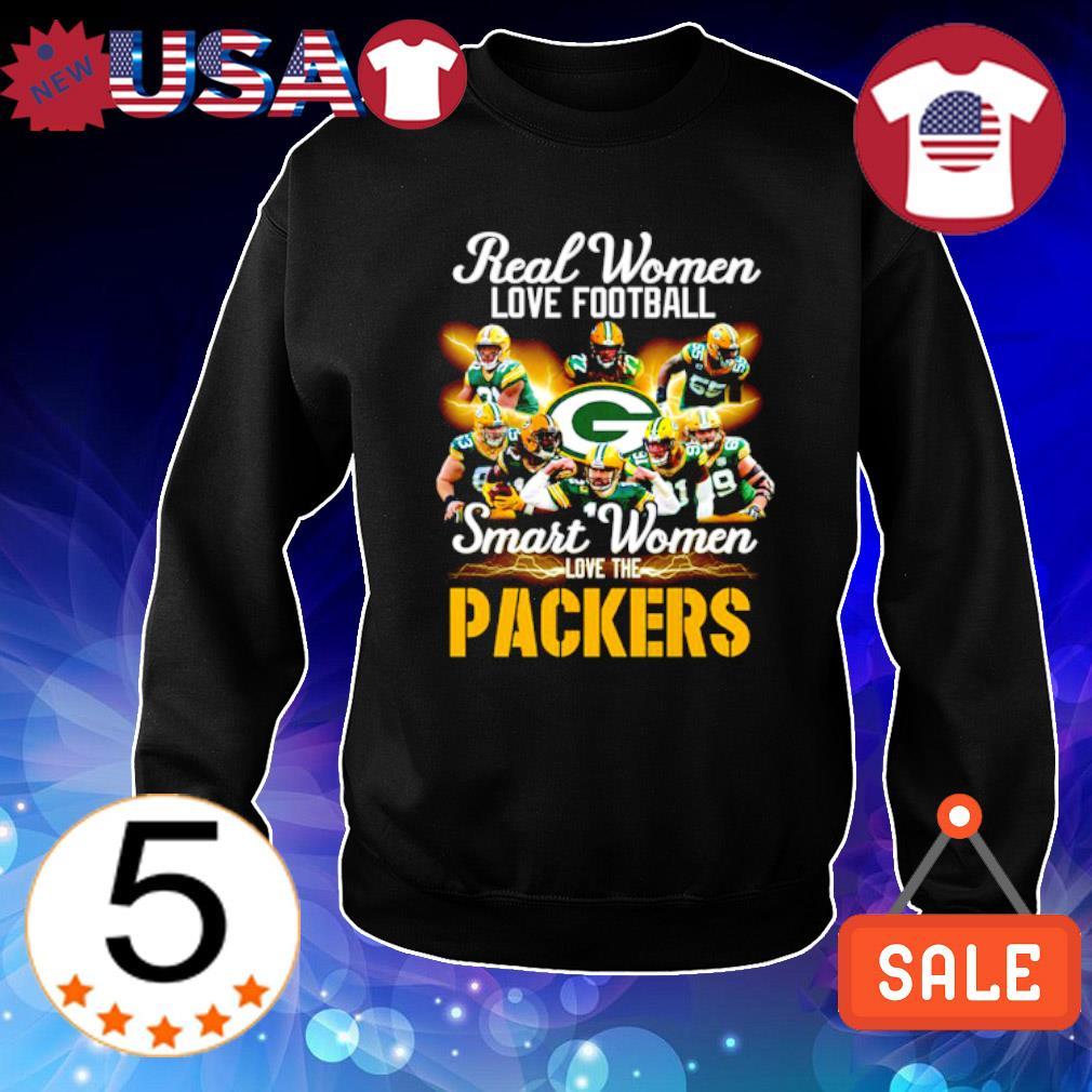 Real women love football smart women love the Packers s Sweater Black