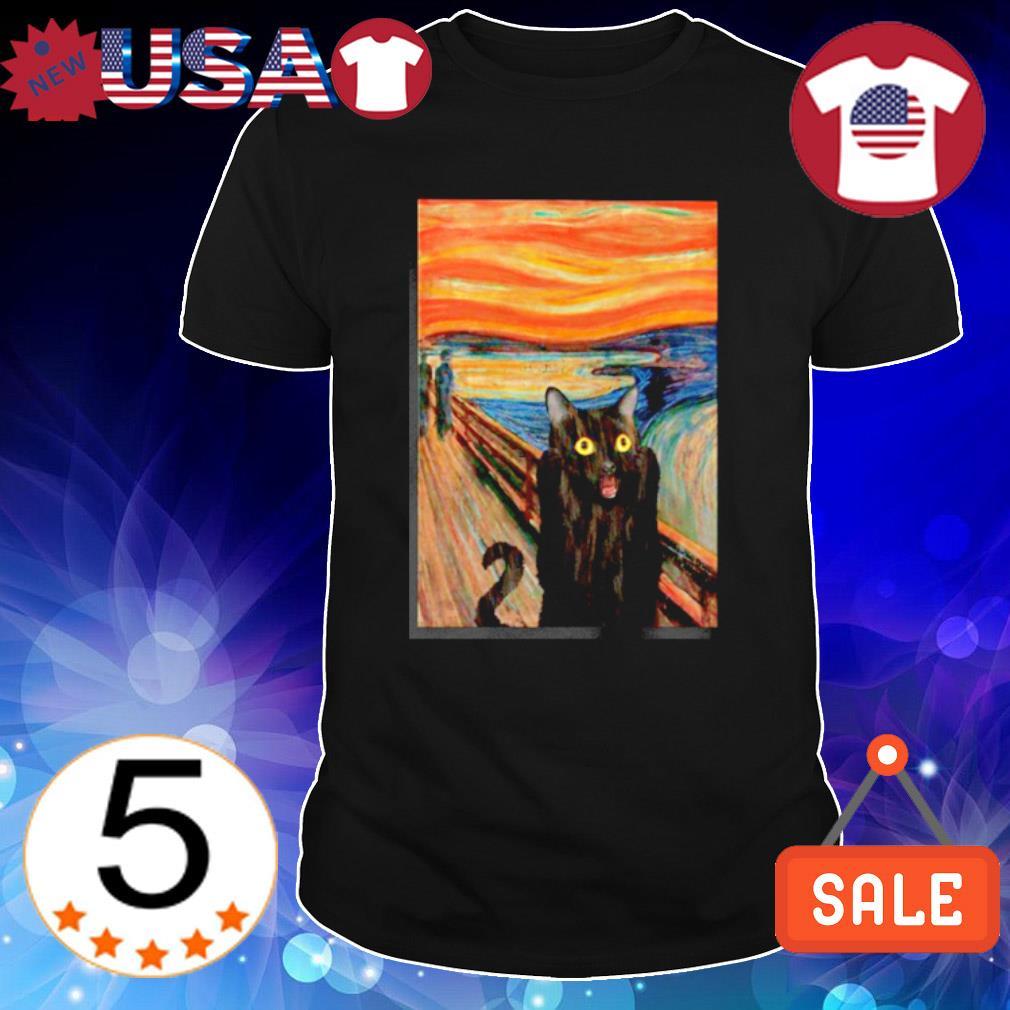 The Scream black cat shirt