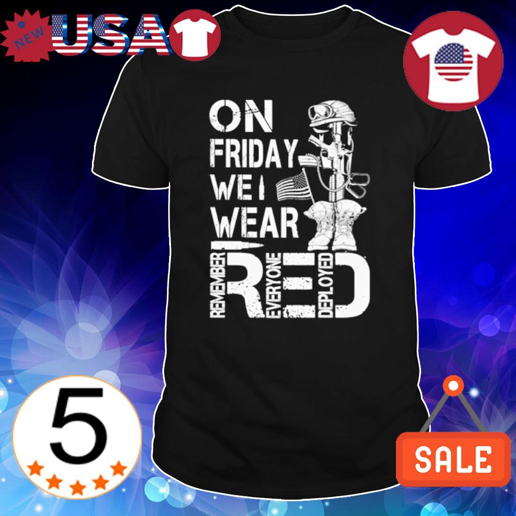Veteran on friday we wear red shirt