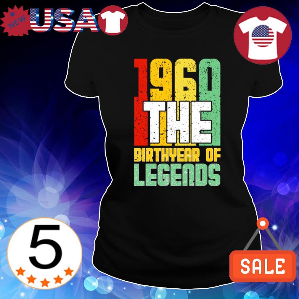 1960 the birth year of legends vintage s Ladies Tee-Black