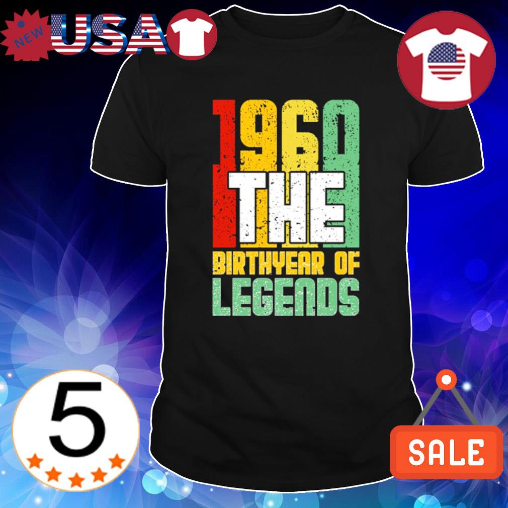 1960 the birth year of legends vintage shirt