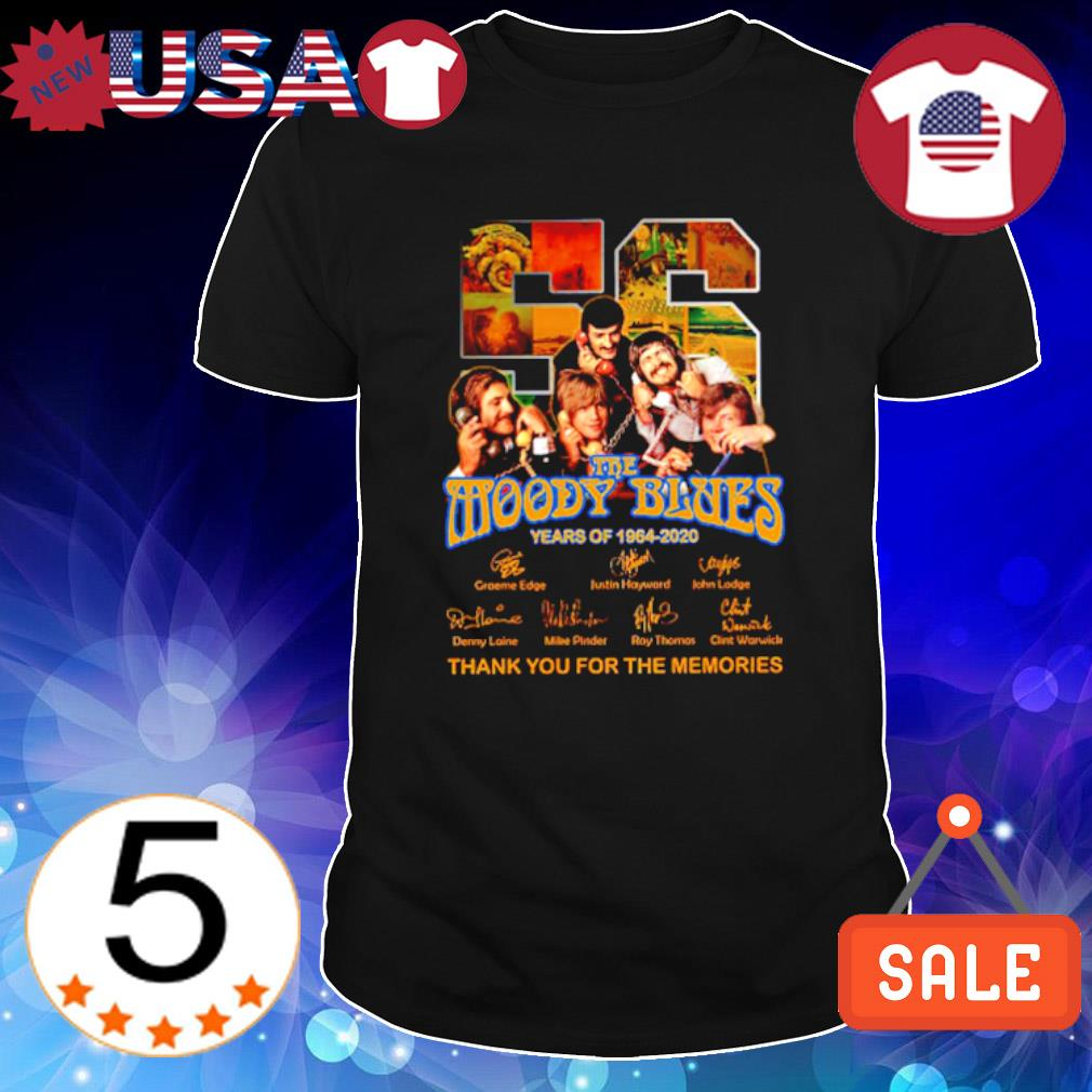 56 years of The Moody Blues 1964 2020 thank you for the memories shirt