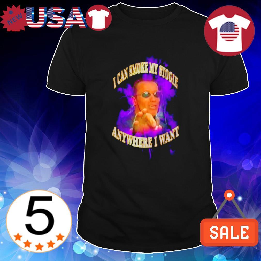 Arnold Schwarzenegger I can smoke my stogie anywhere I want shirt