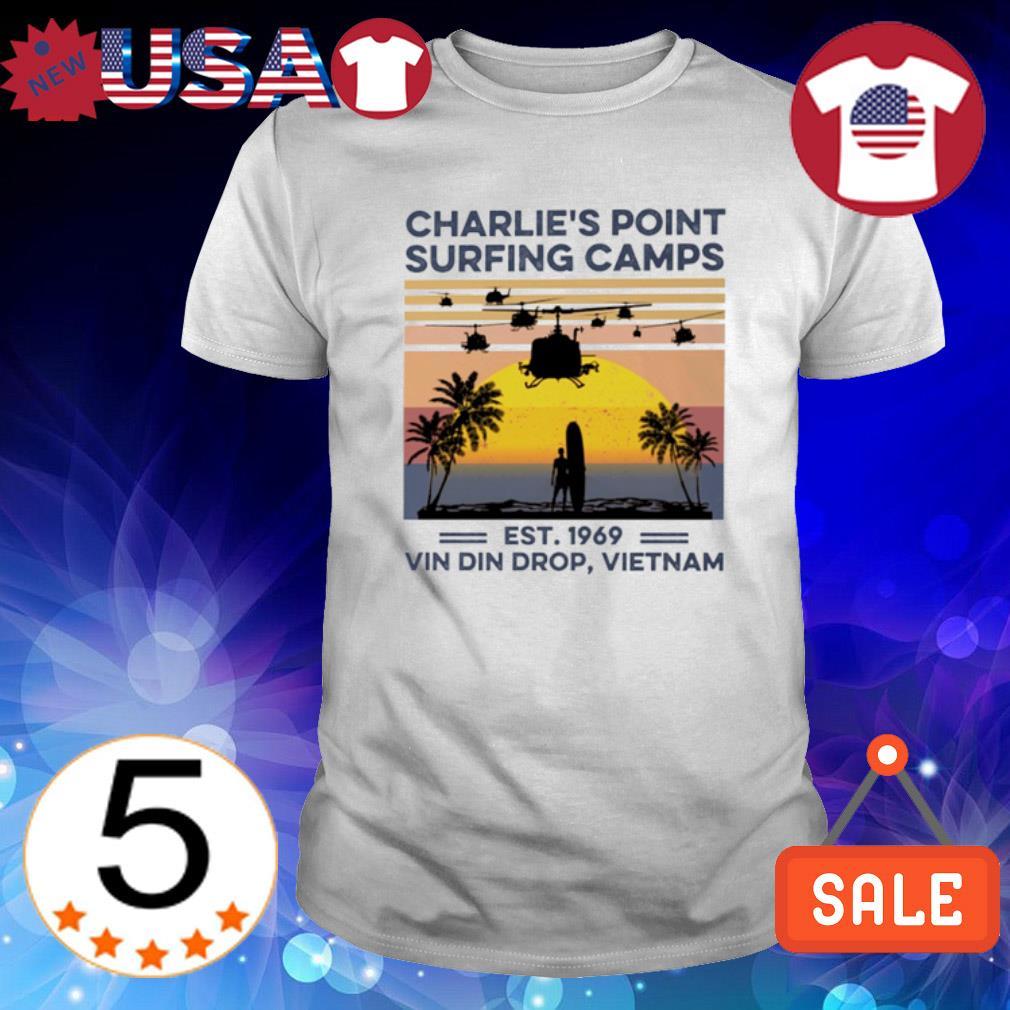 Charlie's Point surfing camps est 1969 vin din drop Vietnam vintage shirt