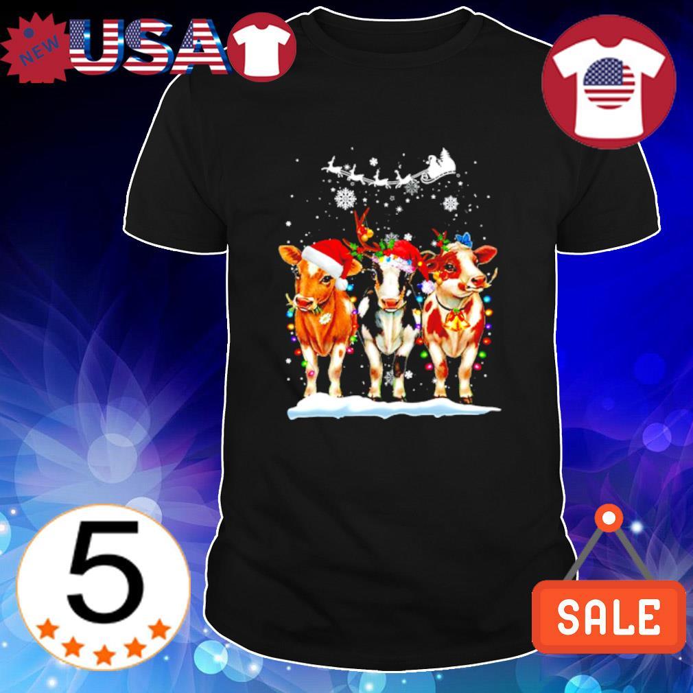 Cow Christmas Matching Family Group Christmas shirt