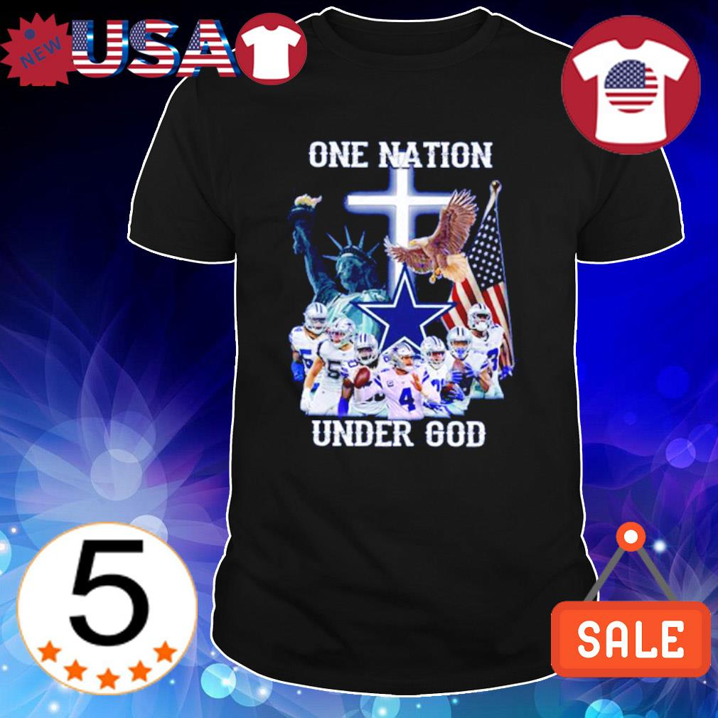 Dallas Cowboys one nation under god American flag shirt