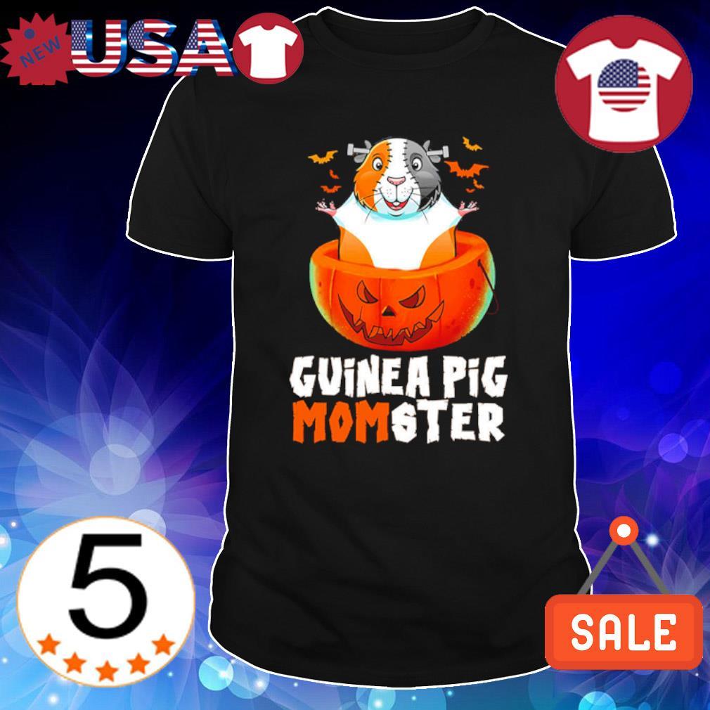 Guinea pig momster in pumpkin Halloween shirt