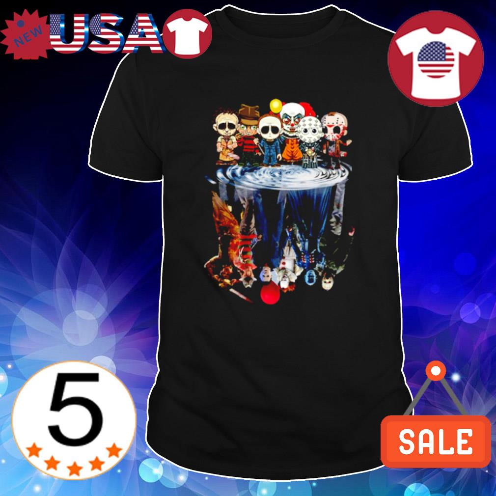 Horror characters chibi water mirror horror characters movies shirt
