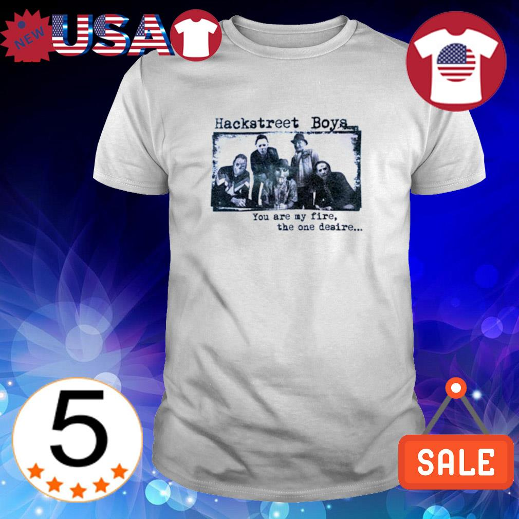 Horror characters hackstreet boys you are my fire the one desire shirt