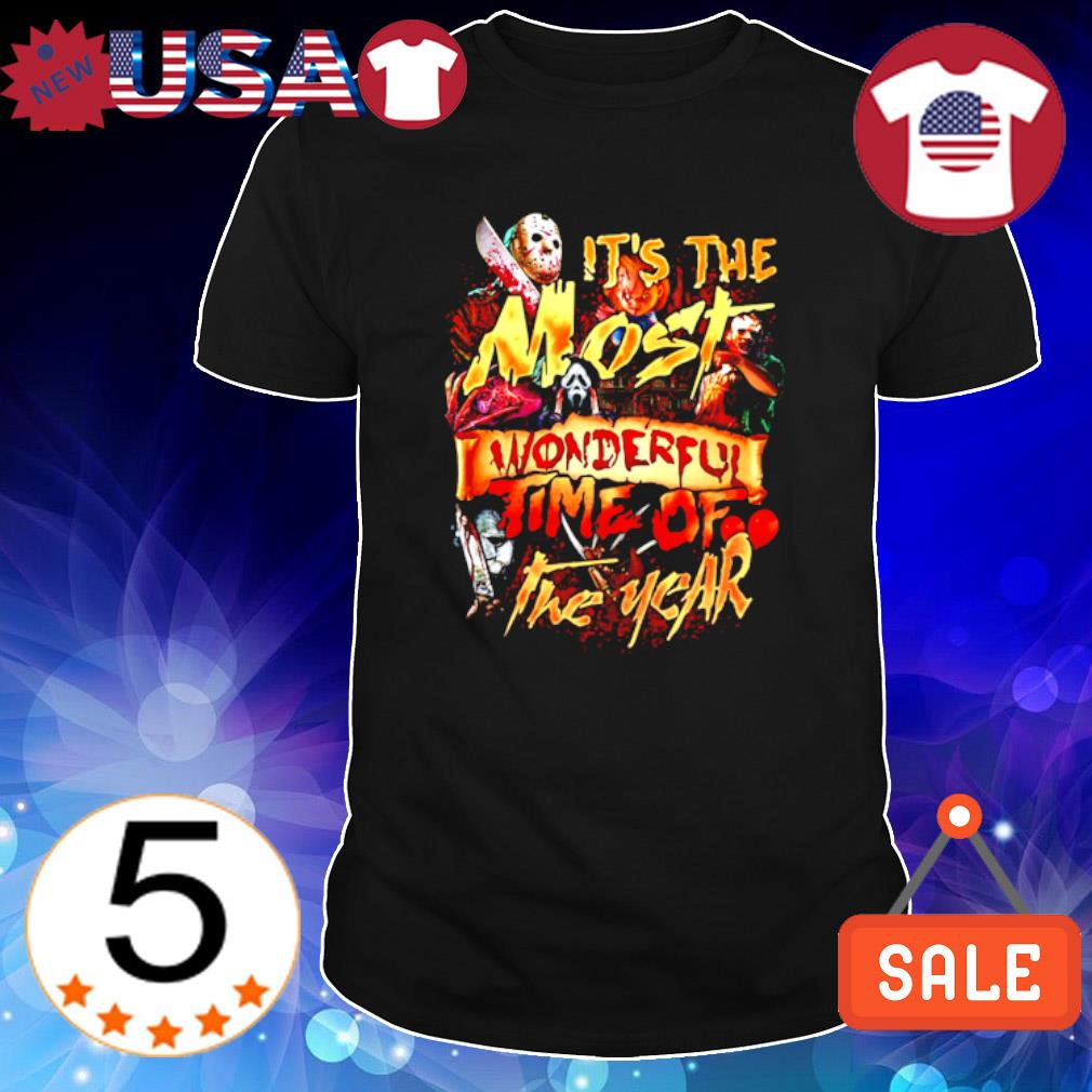 Horror characters Halloween it's the most wonderful time of the year shirt