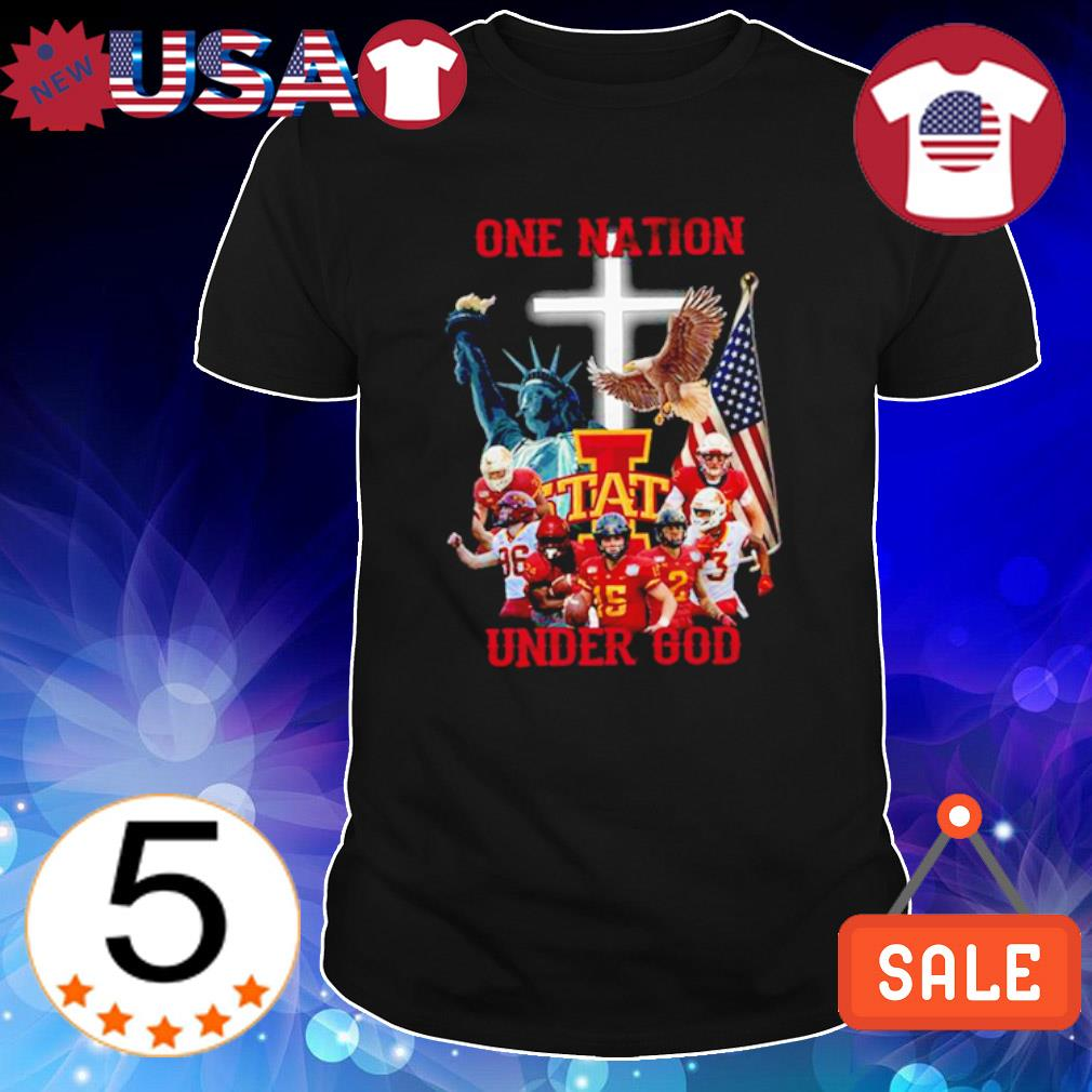 Iowa State one nation under God American flag shirt