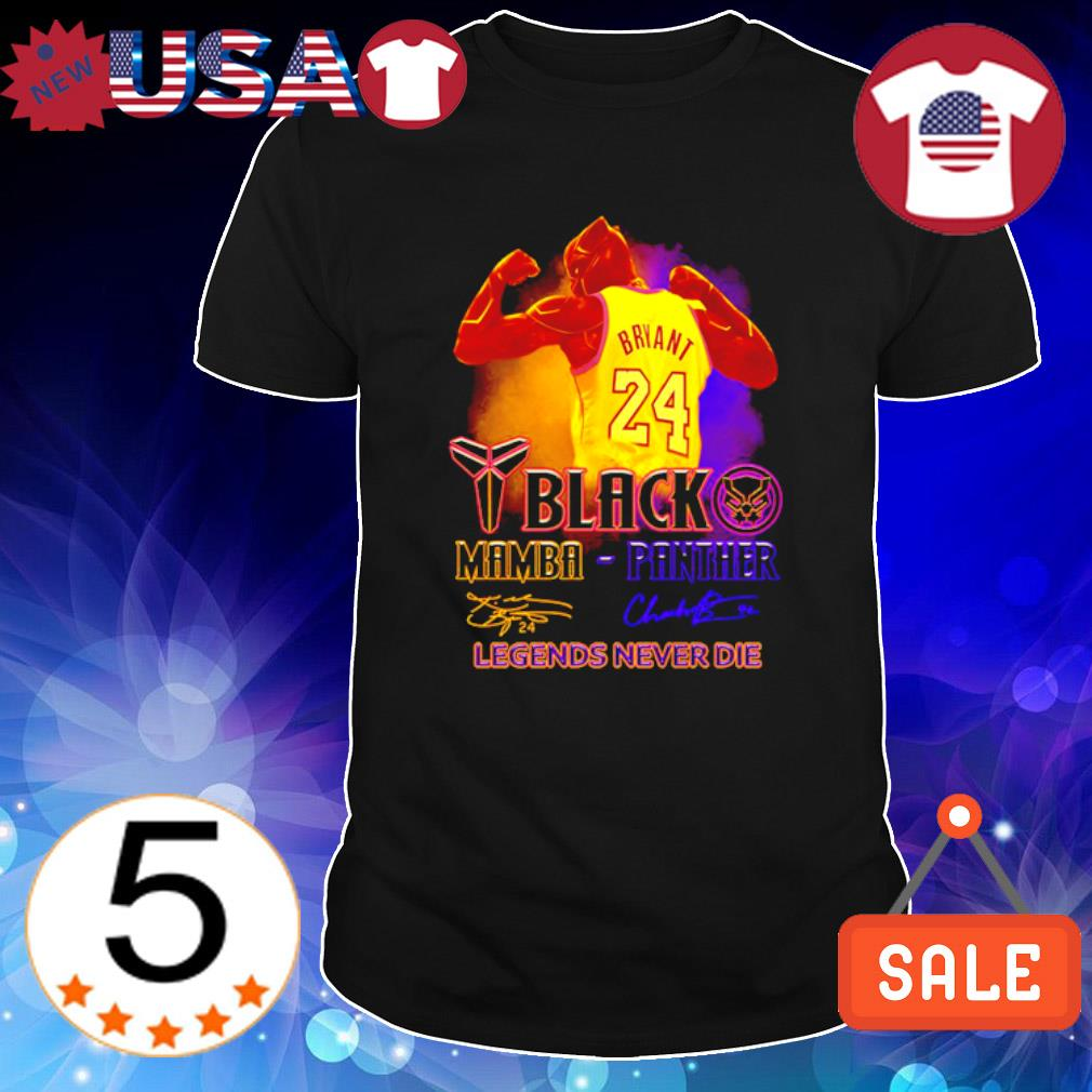 Kobe Bryant Black Mamba Black Panther legends never die shirt
