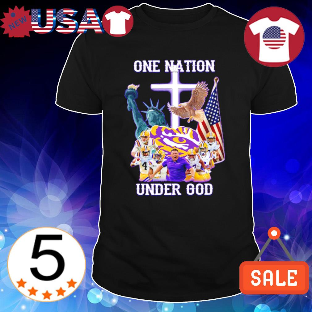 LSU Tigers one nation under God shirt