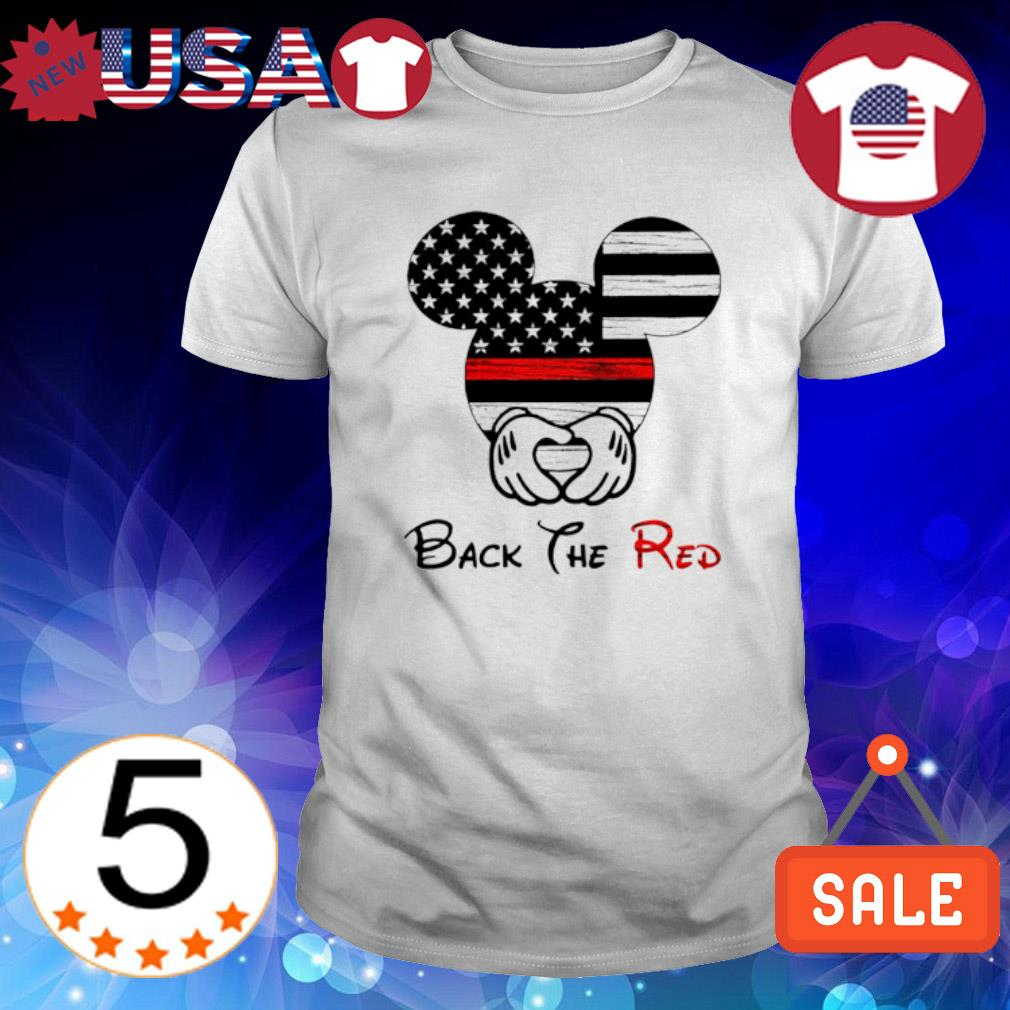 Mickey mouse American flag back the red shirt