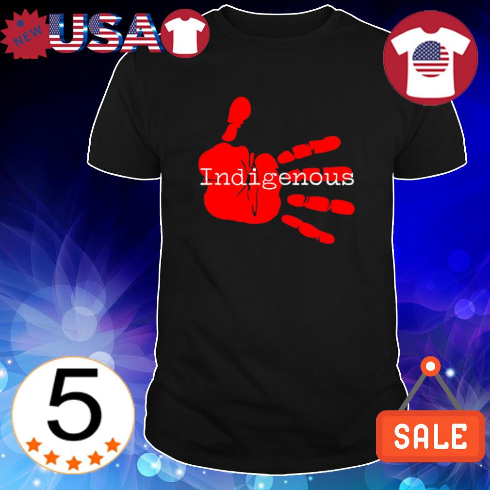 Native American Indigenous red hand shirt