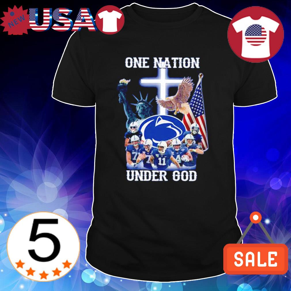 Penn State Nittany Lions one nation under god American flag shirt