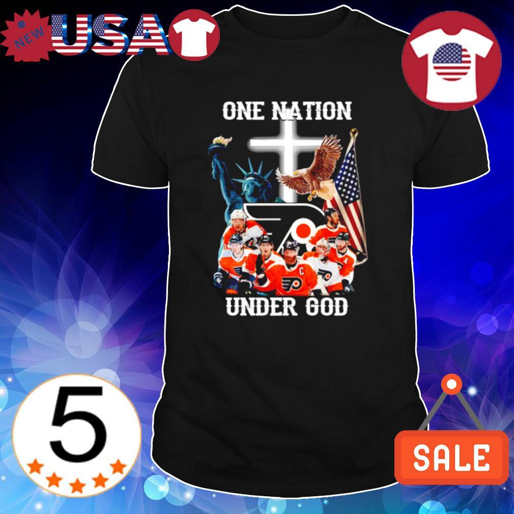 Philadelphia Flyers one nation under God shirt