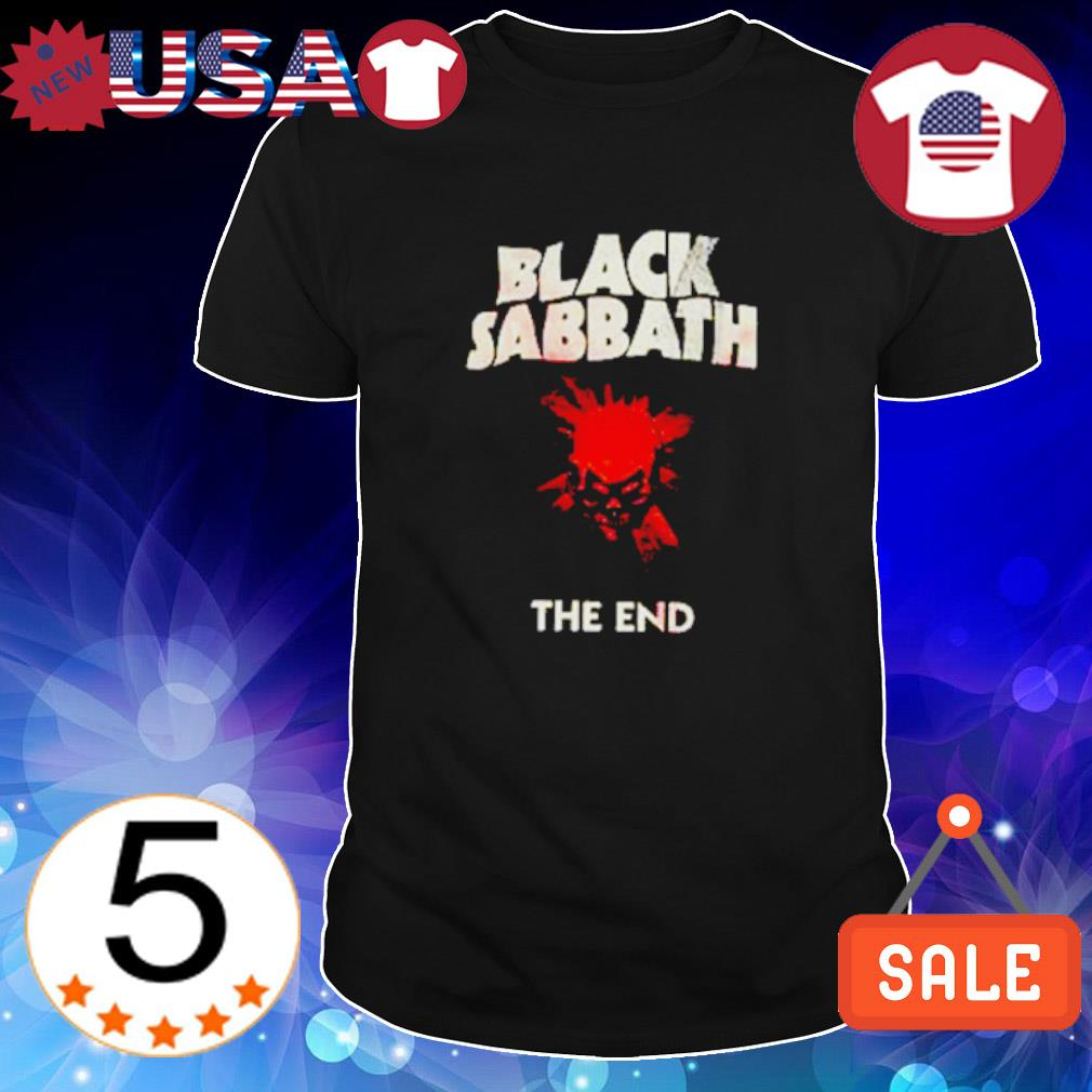 Skull black sabbath the end shirt