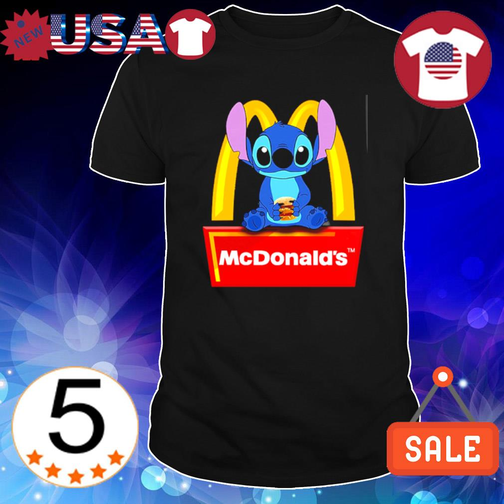 Stitch hug McDonald's Hamburger shirt