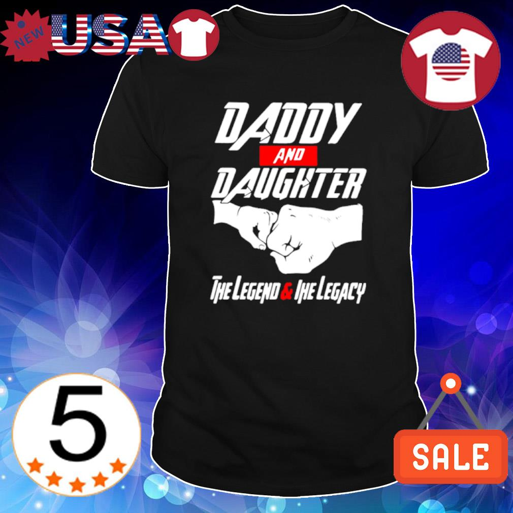 Tony Stark Daddy and Daughter the legend and the legacy shirt