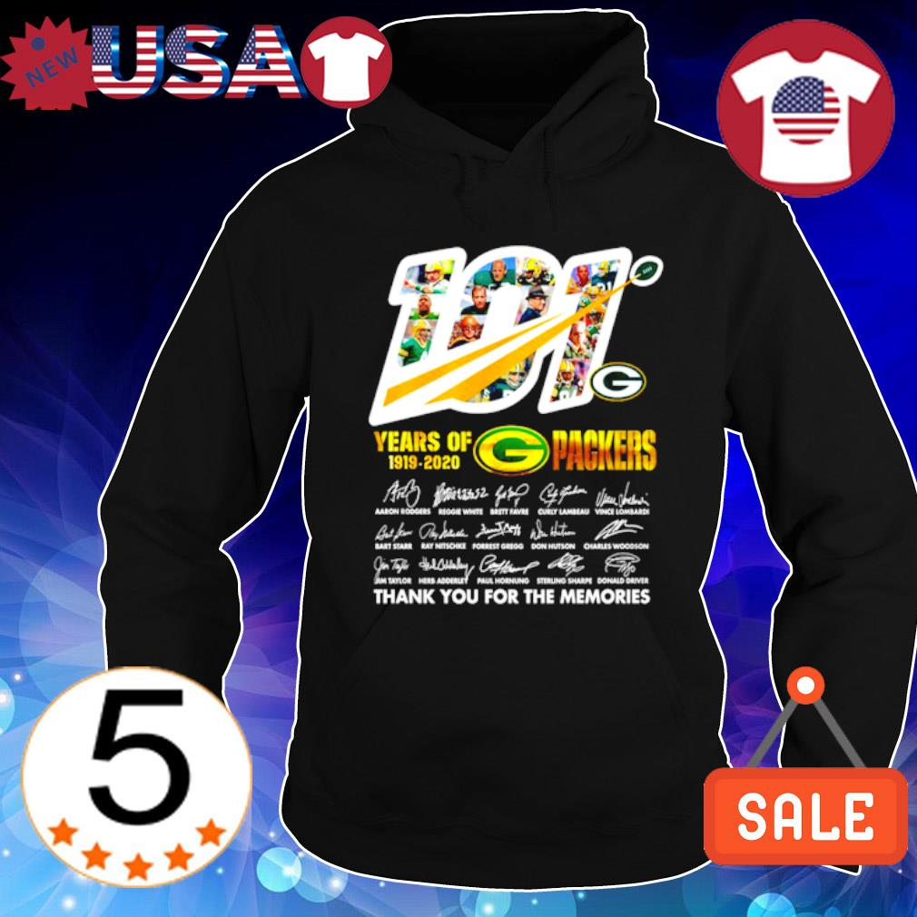 101 years of 1919 2020 Packers thank you for the memories s Hoodie Black