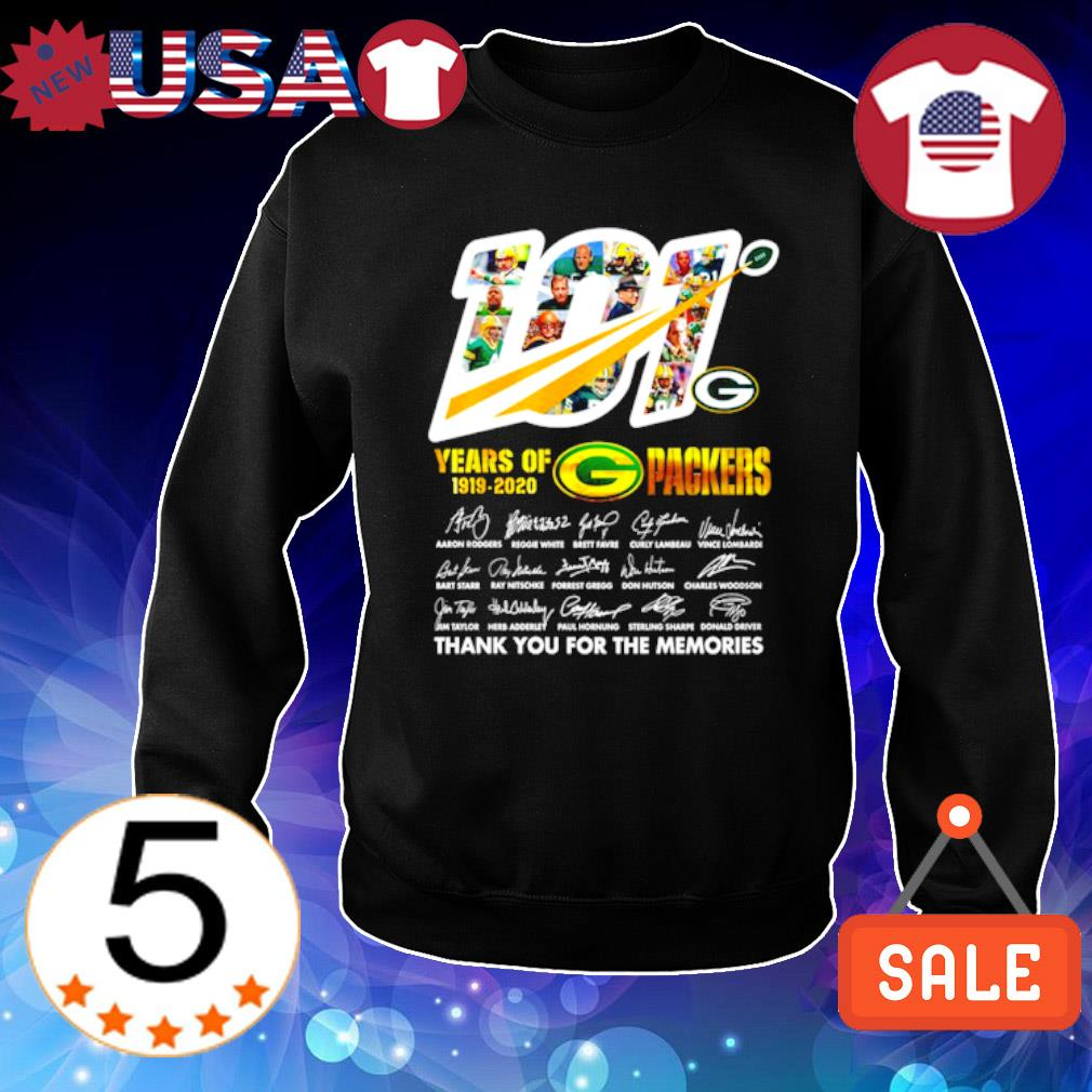 101 years of 1919 2020 Packers thank you for the memories s Sweater Black