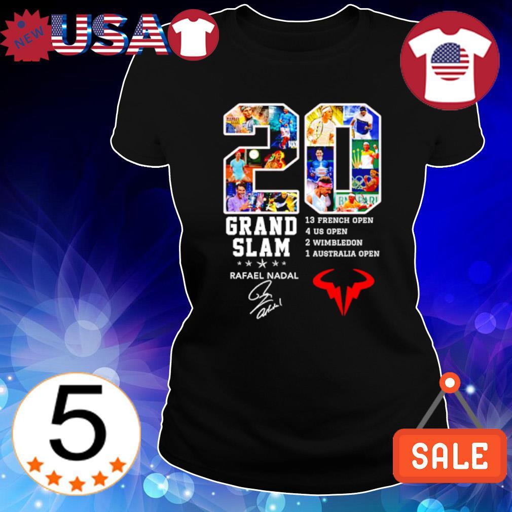 20 years Grand Slam Rafeal Nadal signature s Ladies Tee-Black