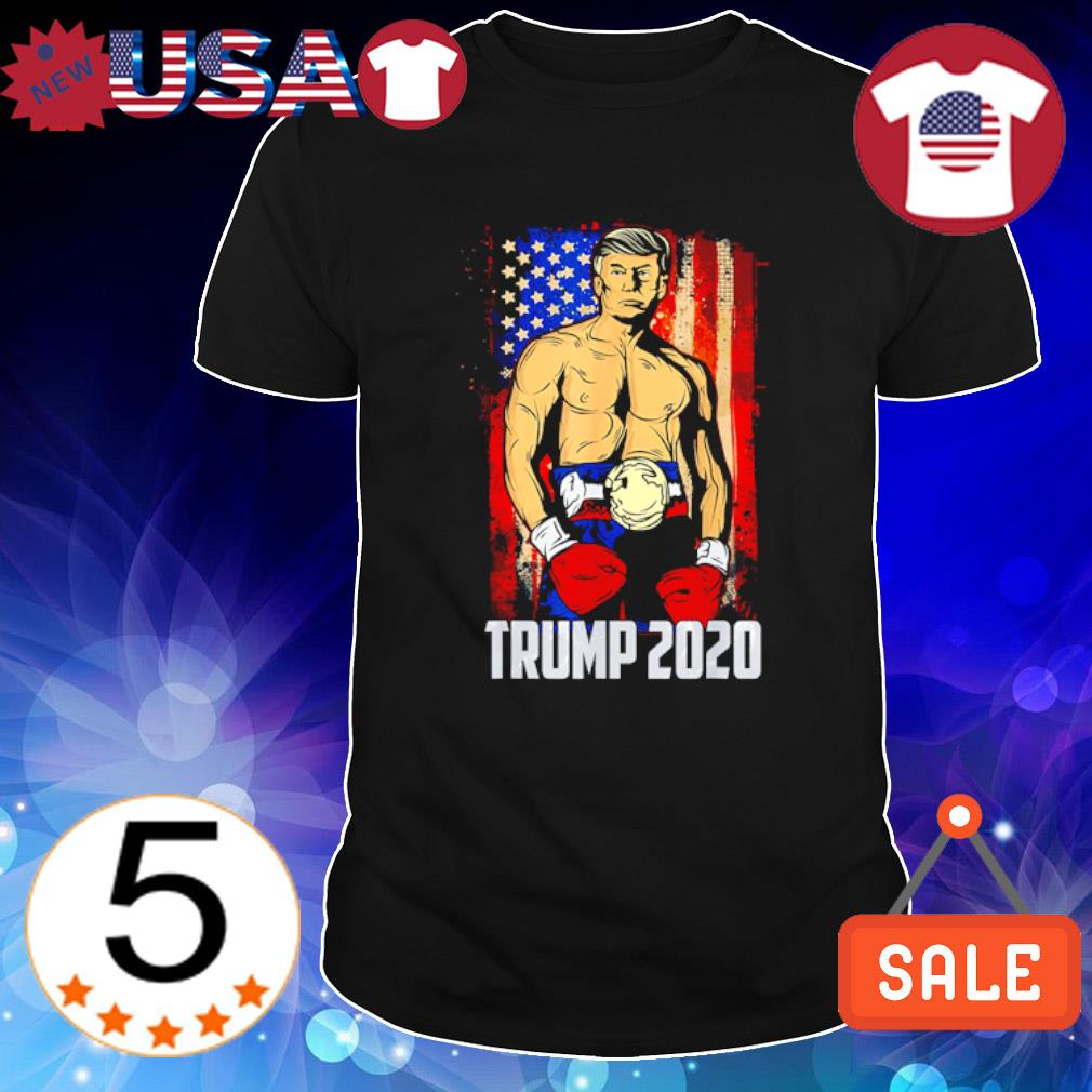 American flag boxer Trump 2020 shirt