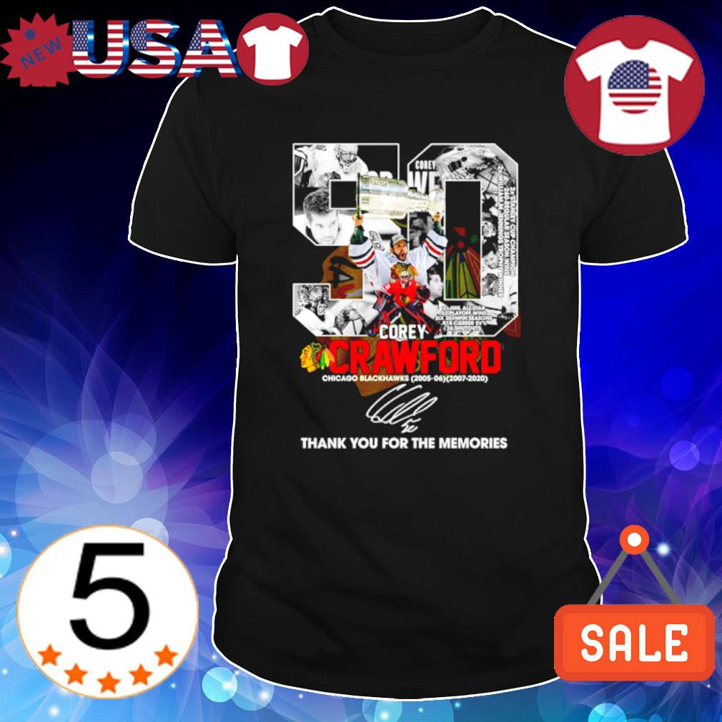 Corey Crawford Chicago Blackhawks thank you for the memories shirt