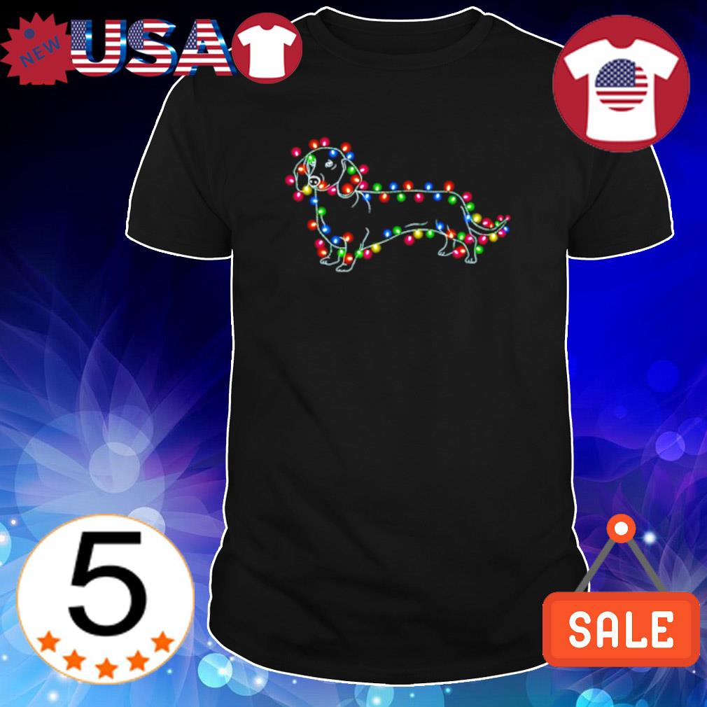 Dachshund Christmas light Xmas shirt