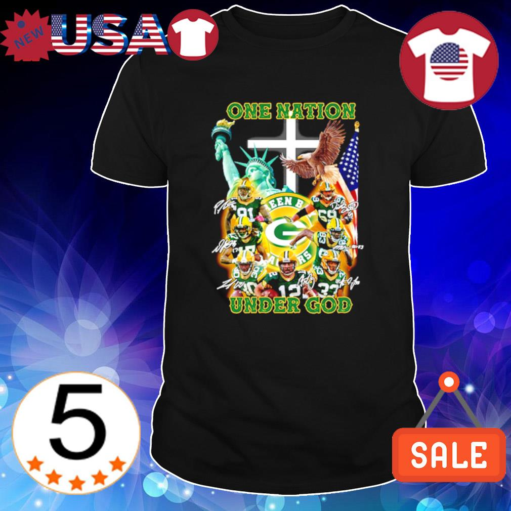 Green Bay Packers one nation under God signature shirt