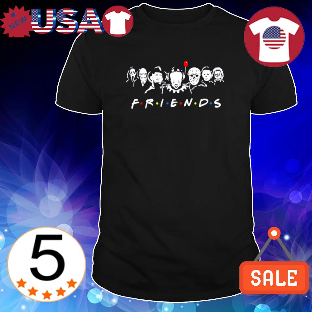 Horror characters Friends TV show shirt