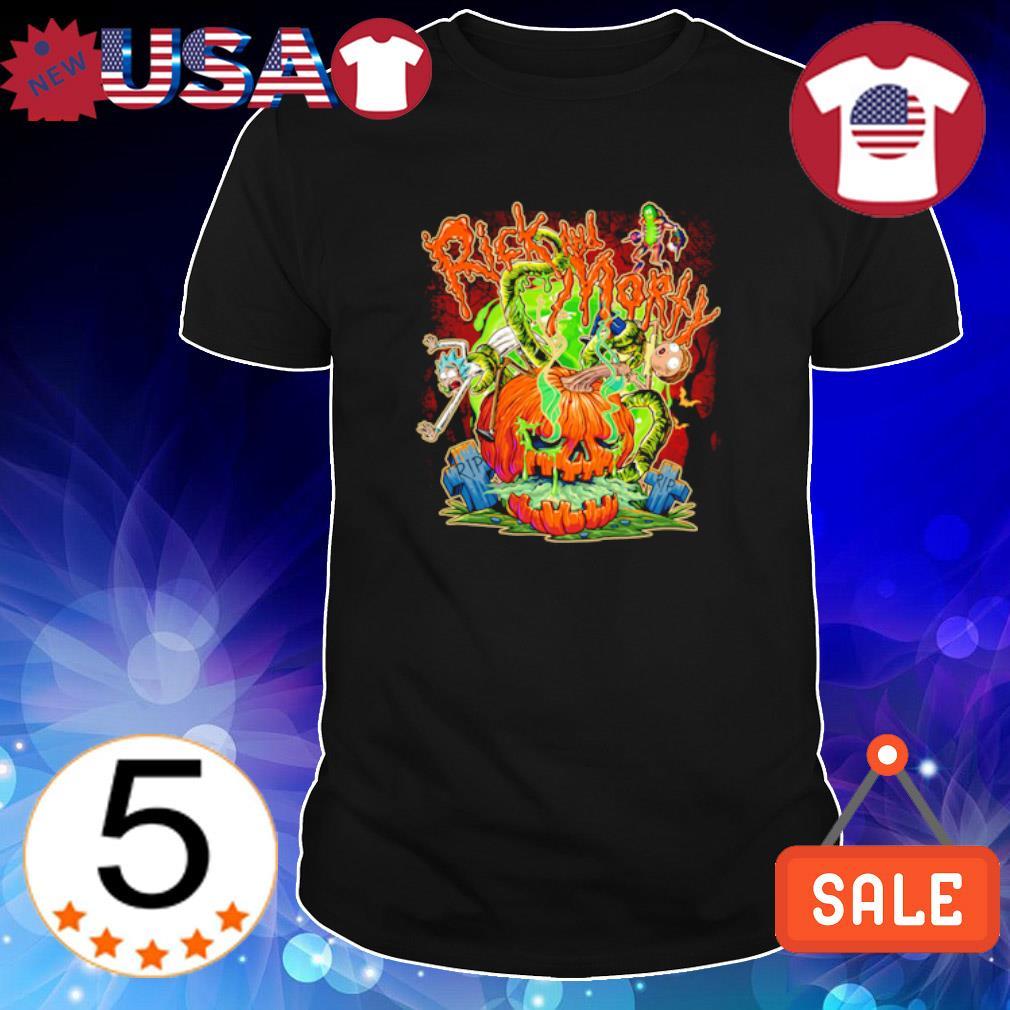 Horror Rick and morty pumpkin Halloween shirt