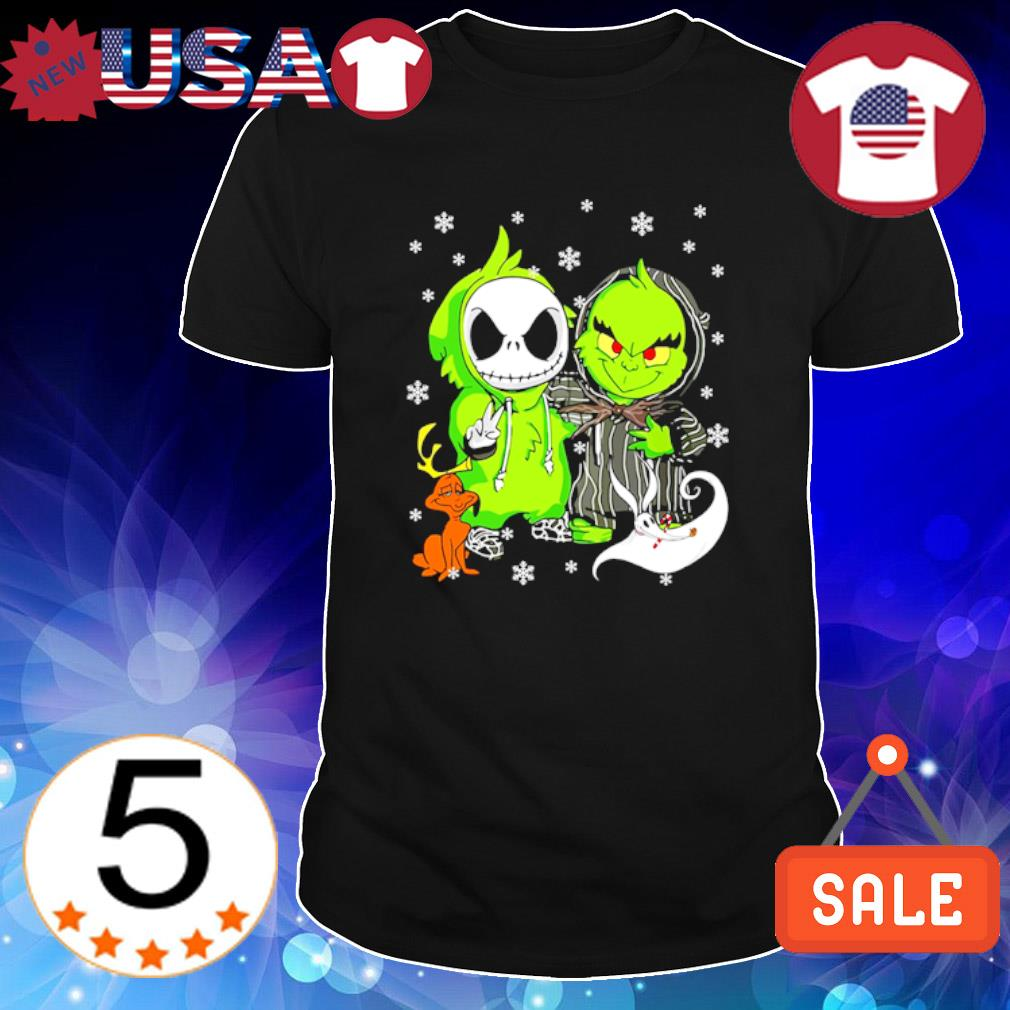Jack Skellington and Grinch are best friend Christmas shirt