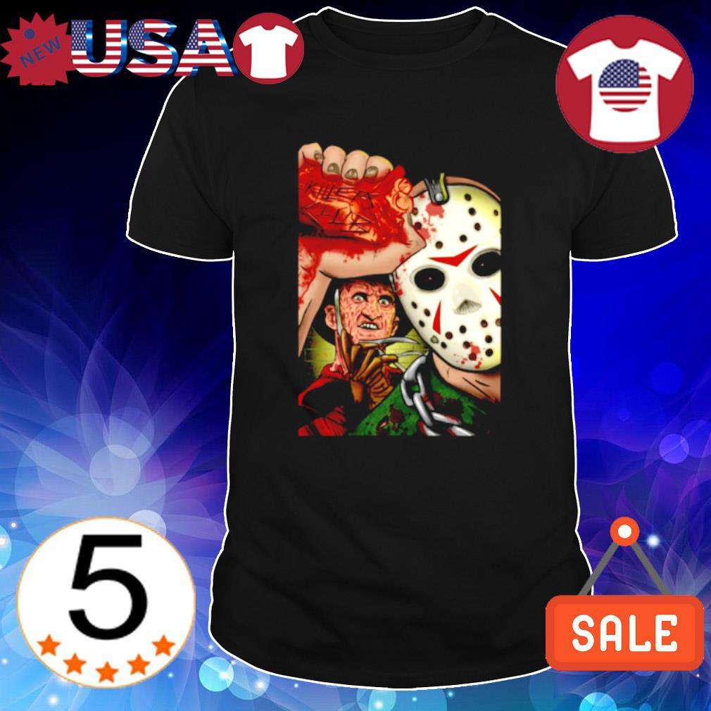 Jason Voorhees and Freddy Krueger killers club shirt