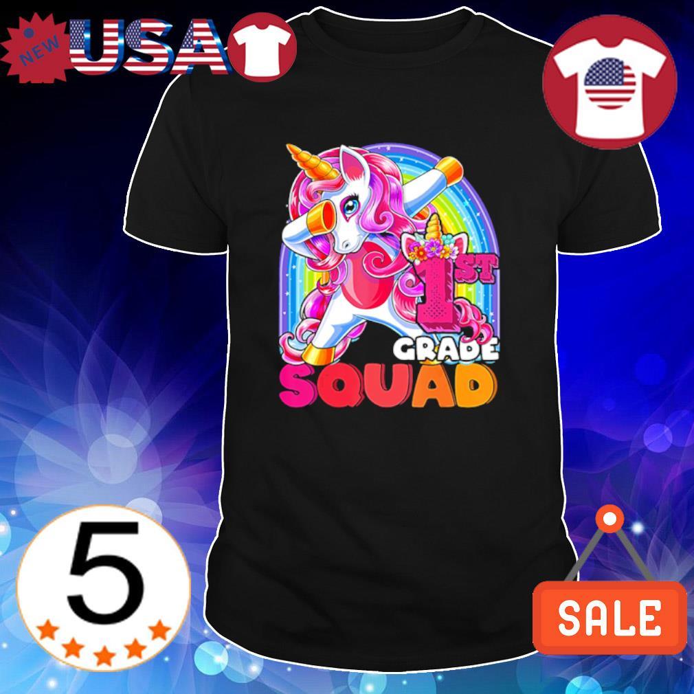 LGBT Unicorn dabbing 1st grade squad shirt