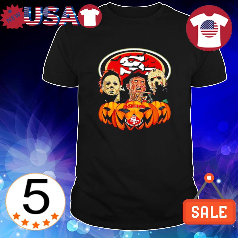 Michael Myers Freddy Krueger Jason Voorhees San Francisco 49ers Halloween shirt