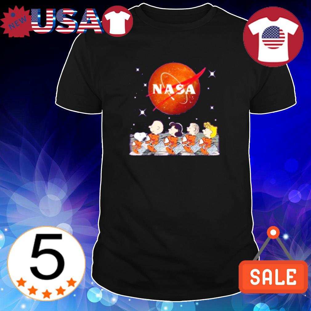 Peanuts characters Abbey Road Nasa shirt