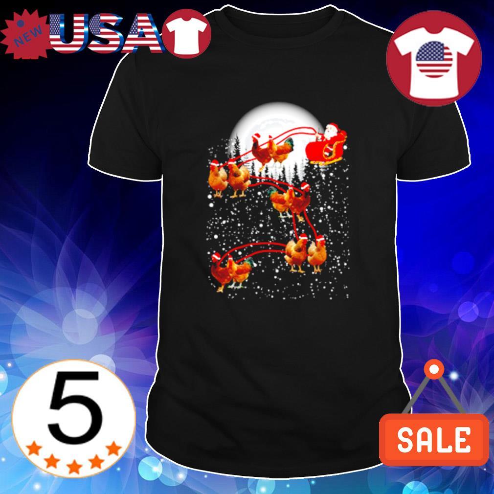 Satan riding chicken merry Christmas shirt